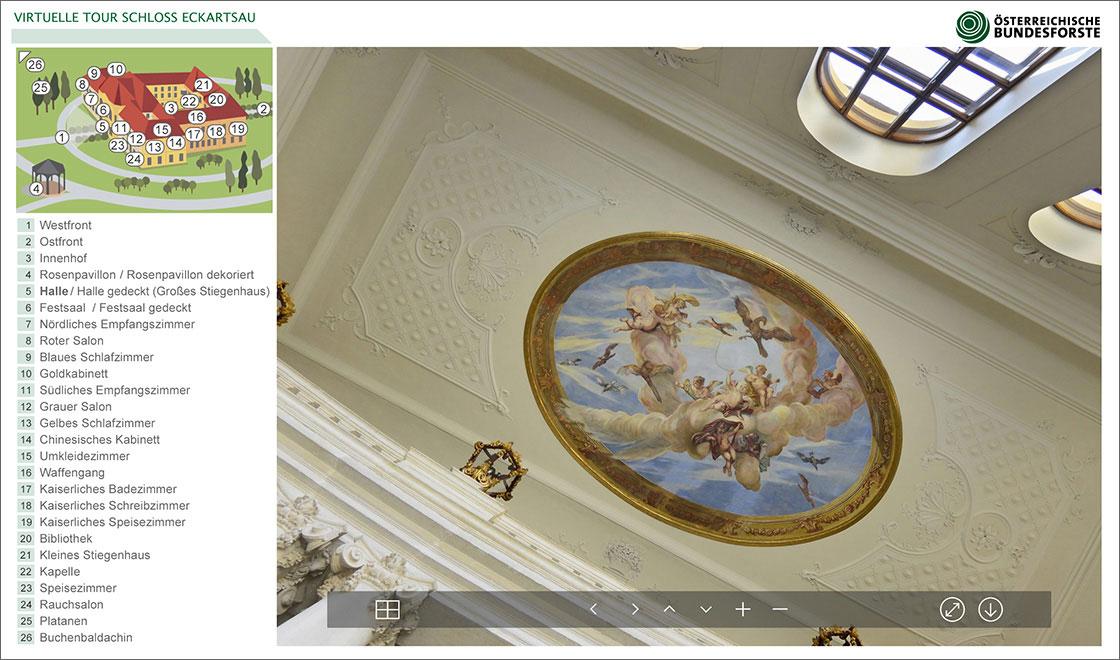 Virtuelle Tour Schloss Eckartsau